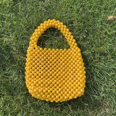 Sarı Boncuk El Çantası